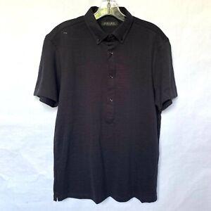 Zara-Man-Navy-Blue-Polo-Short-Sleeve-Shirt-NEW-With-Tags-Sz-M-L