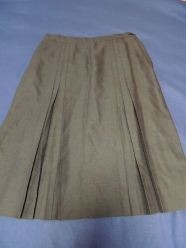 Vintage Women's Aljean Pure Virgin Wool Skirt Gray