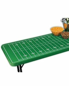 Football Field Green Sports Banquet Party Decoration Fitted Elastic Tablecover