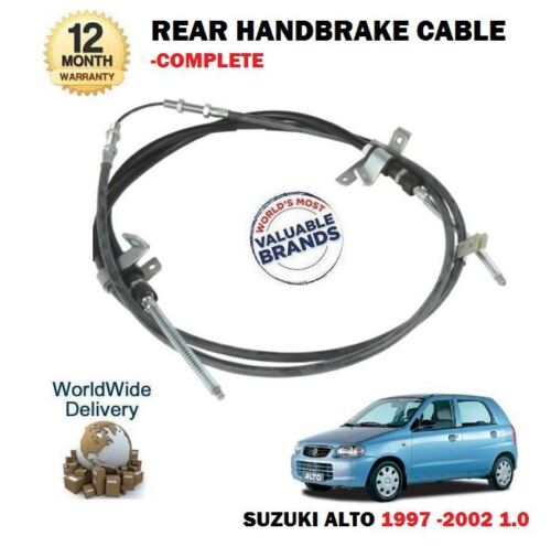 FOR SUZUKI ALTO 1.0 1.0i 1997-12/2002 NEW REAR HAND BRAKE CABLE COMPLETE