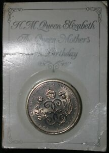 1990-Elizabeth-II-The-Queen-Mother-039-s-90th-Birthday-Five-Pounds-Coin-KM-Coins