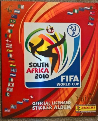 PANINI SOUTH AFRICA WORLD CUP 2010 STICKER UNUSED BARCODE ALBUM PLUS 5 PACKS