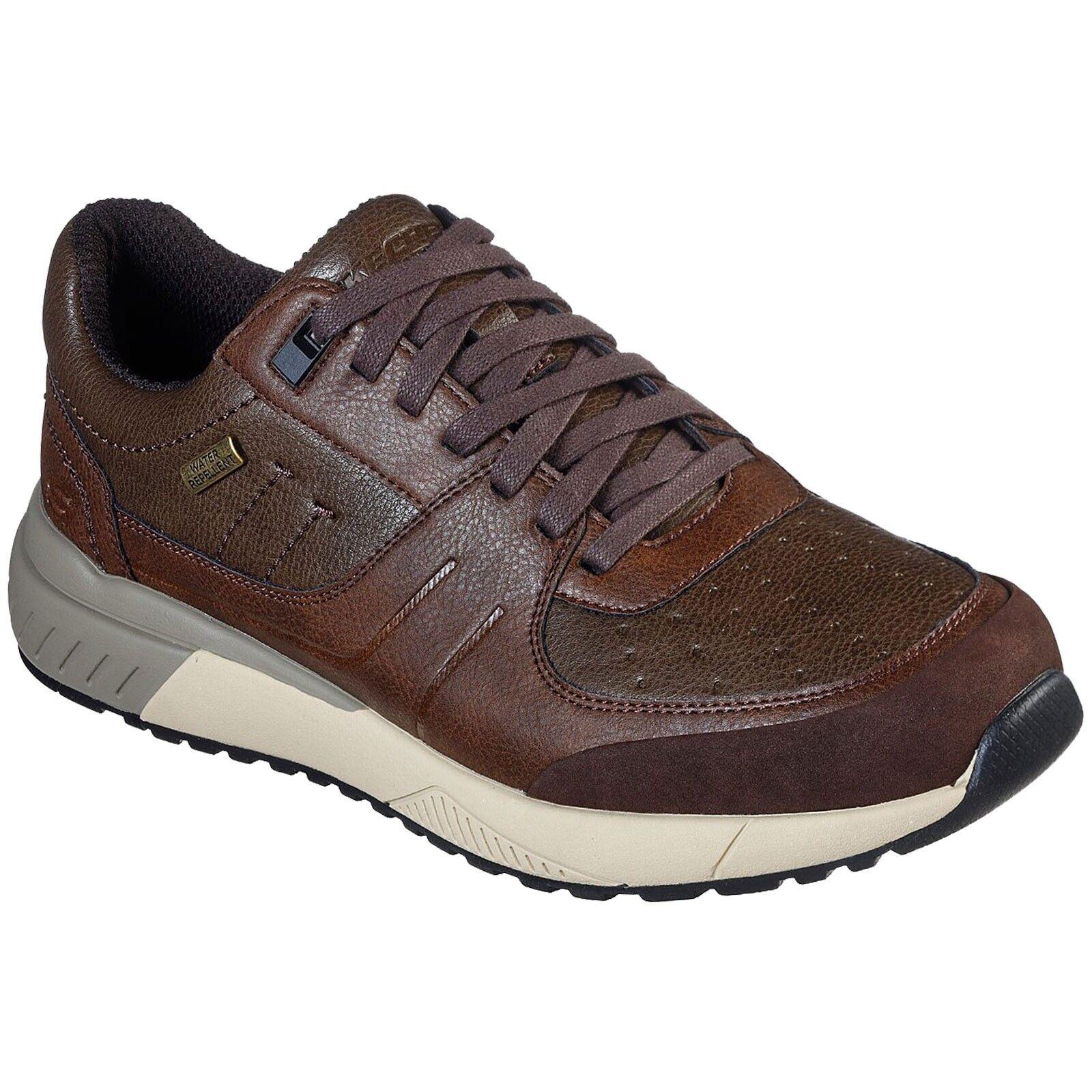 Hombres Skechers ferrano neres, tampones de memoria impermeable Color marrón 66 398   BRN