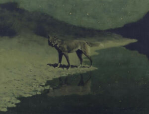 Moonlight-Wolf-by-Frederic-Remington-Oil-Painting-Art-Reproduction-on-Canvas