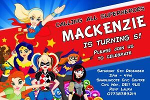 Image Is Loading Personalised Girls Superhero Birthday Party Invites Inc Envelopes