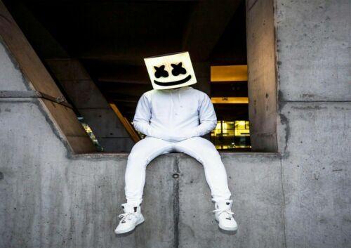 A5 A4 A3 A2 A1 /& A0 Sizes Marshmello DJ American Electronic Musician Poster