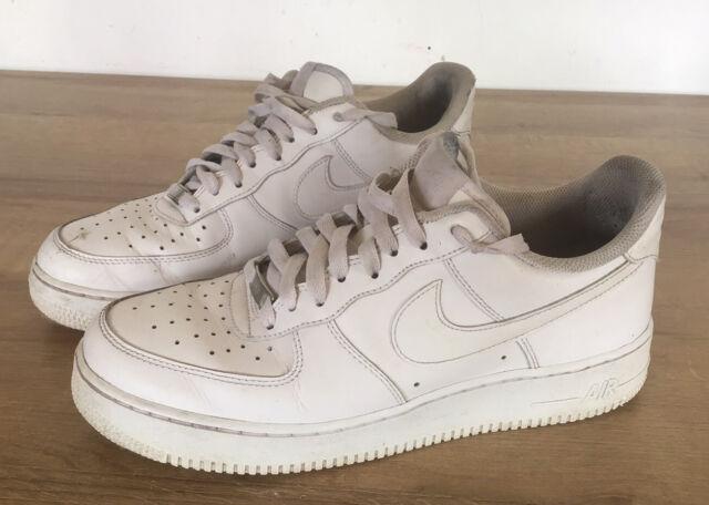 Nike Air Force 1 af1 Lo weiß Turnschuhe Herren Größe UK 9 EU 44 gebraucht