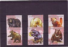 MADACASCAR-edizione 2001 Gomma integra, non linguellato 6v Bears