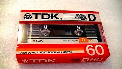 1986 1 BLANK CASSETTE TAPE SEALED TDK  D    60
