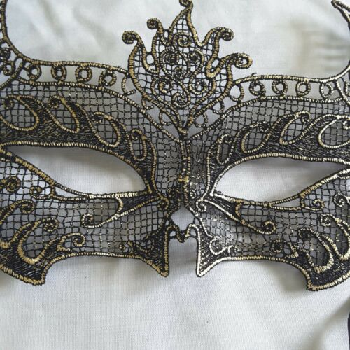 Black Silver Eyes Embroidered Party Costume Eye MASK Cat Women Masks Lace