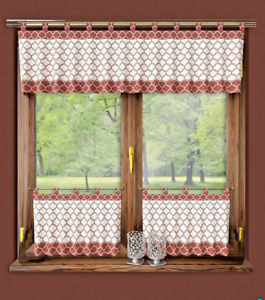Kitchen-Curtains-Morrocan-Cafe-net-24-034-60cm-Sold-by-the-metre-Window-Decor