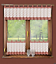 Kitchen-Curtains-Morrocan-Cafe-net-24-034-60cm-Sold-by-the-metre-Window-Decor thumbnail 1