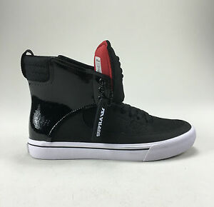 Supra-Kondor-Shoes-Trainers-Black-White-Red-Wht-New-in-box-in-Size-UK-7-8-9-10