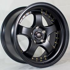 MST MT07 17x9 5x114.3 +20 Matte Black Rims Fit Evo 8 9 X Wrx Sti 240Sx Tl Stance