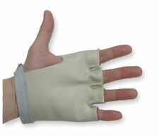 Open Tip Style Beige Grain Leather Cowhide Gloves Medium Size Qty 12 Pair