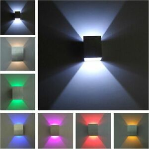 LED-Wall-Light-Up-Down-Cube-Indoor-Outdoor-Sconce-Lighting-Lamp-Fixture-Decor-A