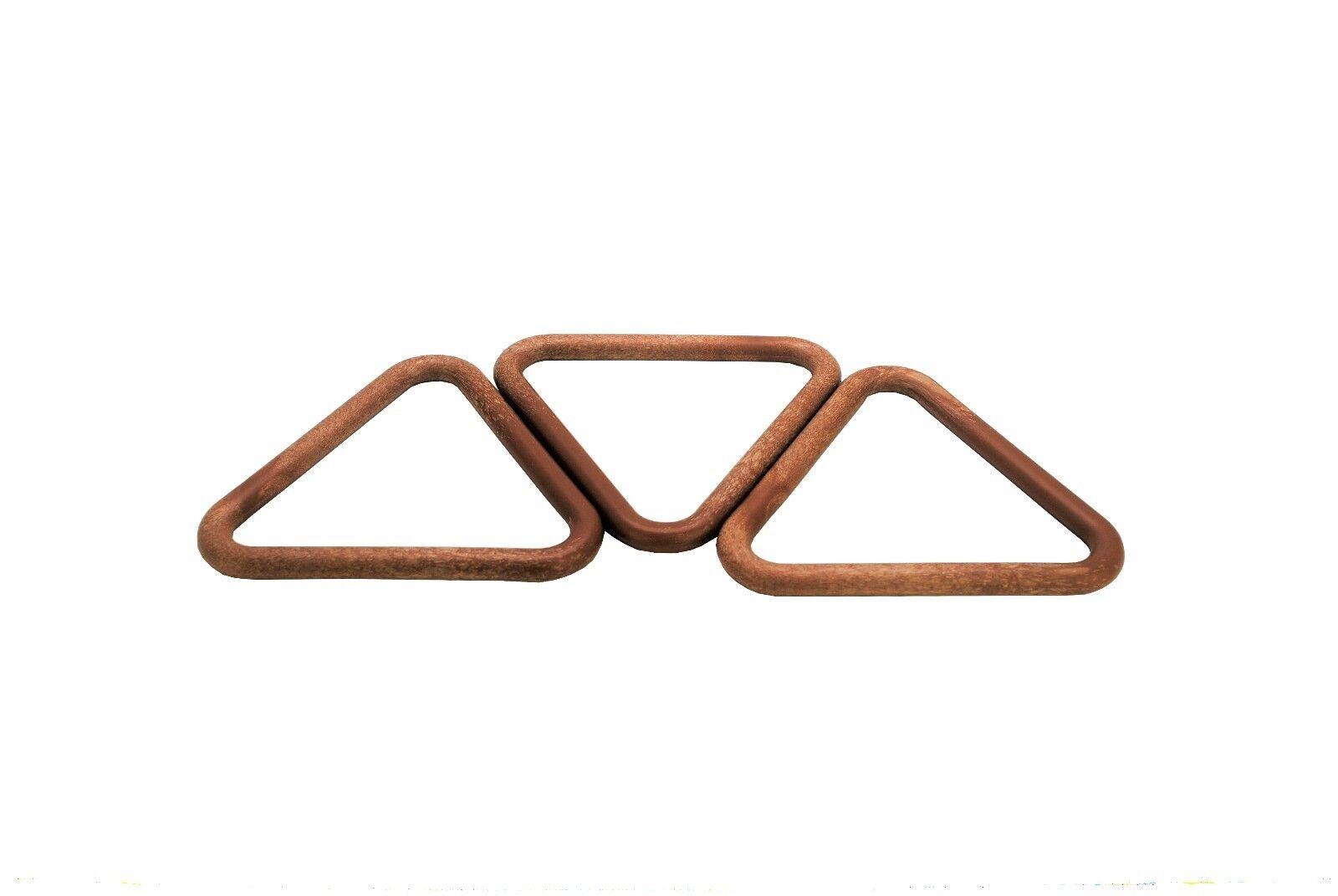 Craft 99mm Hobby S7784 Pack of 10 Triangular Triangle Shape Macrame Rings