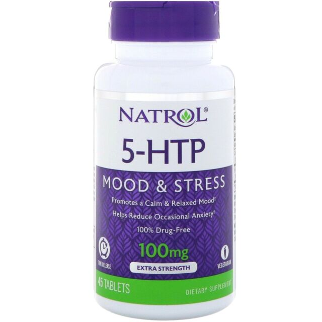 Natrol 5 Htp Tr Time Release 100 Mg Positive Mood Appetite Control 45 Tablets