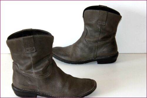Kickers Boots Booties Leather Dark Gray T 39 Be
