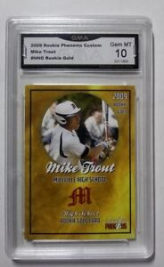 Mike-Trout-GMA-GEM-MINT-10-GOLD-2009-Millville-HIGH-SCHOOL-ROOKIE-CARD