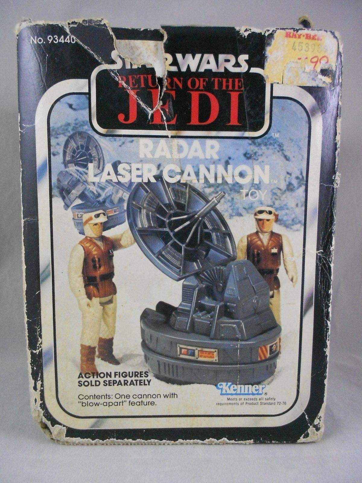 Vintage Star Wars ROTJ 1983 Radar Laser Cannon - Mint in Sealed Fair Cond. Box