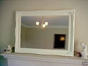 PLAIN-CREAM-ORNATE-LARGE-WALL-MIRROR-26-034-x-36-034-65cm-x-90cm-Superb-Quality