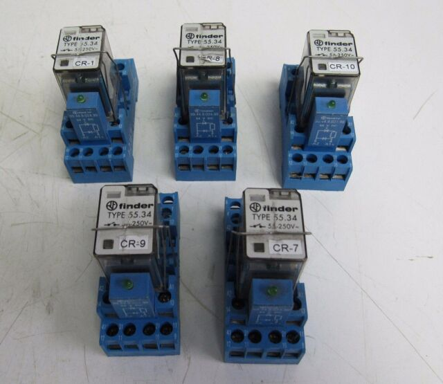 Finder Type 94 44 1 Socket 7a 300v W  Type 55 34 Relay 5a