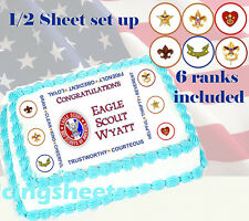 Boy Scout Eagle Court of Honor Edible image cake top Icing sheet 1/2 sheet 2