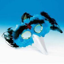Turquoise Blue Feather Bird Mask With Beak - Animal Fancy Dress - Dance Costume