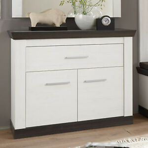 kommode tiena garderobe highboard in pinie wei wenge haptik ebay. Black Bedroom Furniture Sets. Home Design Ideas