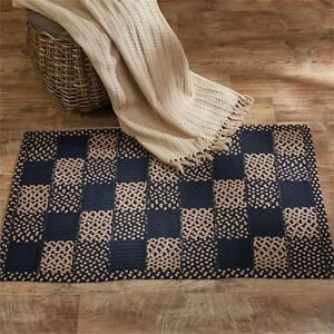 Square Block Braided Area Rug 27 X 45 Rectangle By Park Designs