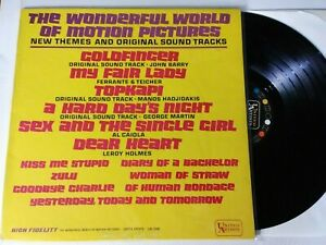 """THE WONDERFUL WORLD OF MOTION PICTURES Various Soundtrack NM 12"""" LP vinyl record"""
