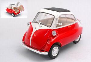 Model-Car-Scale-1-18-WELLY-BMW-Isetta-250-diecast-modellcar-Static-Red
