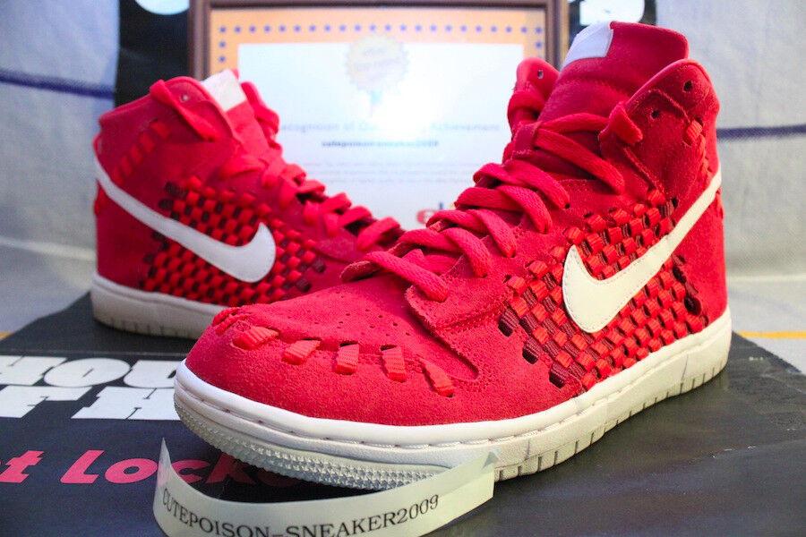 2013 Nike DUNK Woven US SZ 9 Hyper Red/White-Neutral Grey [555030-600] Roshe Run