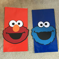 Elmo Or Cookie Monster Party Favor Bags. Set Of 12. Great For Birthday Parties