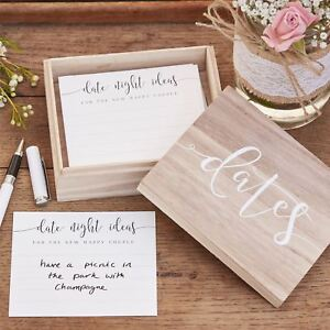 Image Is Loading Date Night Ideas Box Amp Cards Alternative Wedding