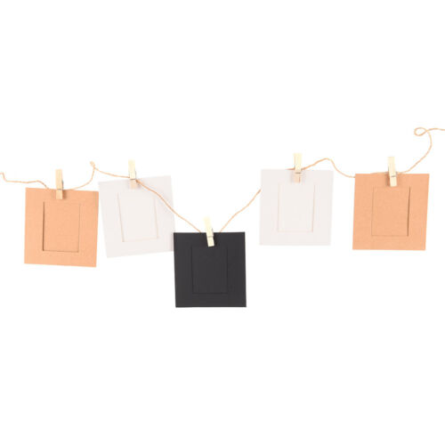 10 set diy wall picture paper photo hanging frame album rope clip decoration XE