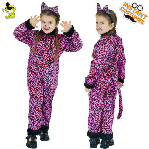Girl Purple Leopard Costume Kid Carnival Party Lovely Little Leopard Cosplay Set