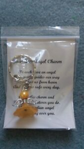 HANDCRAFTED-GUARDIAN-ANGEL-CHARMS-KEYRING-BAGCHARM-TEACHER-GIFT-YELLOW-GOLD-2