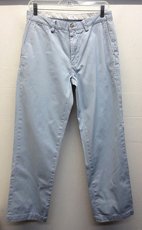 EUC Polo Ralph Lauren Pants Baby bluee Cotton Classic Fit W31 L30 Hemmed to L29