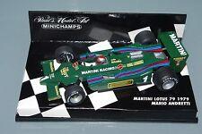 Minichamps F1 1/43 MARTINI LOTUS 79 - MARIO ANDRETTI 1979