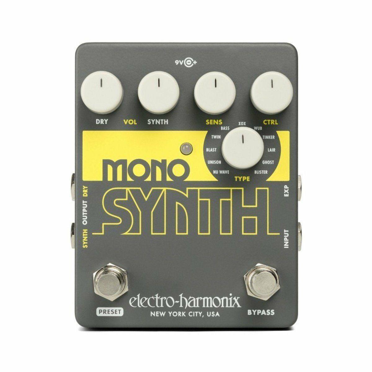 Electro Harmonix Guitar Mono Synth Effects Pedal