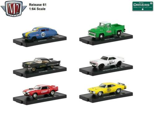 Diecast Cars New M2 Machines Auto Drivers Release 61 1:64 Scale