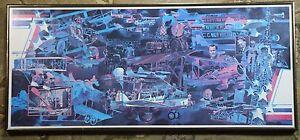 Vintage Paul Melia Gallery One Poster Celebrating Ohio Aviation Festival Framed