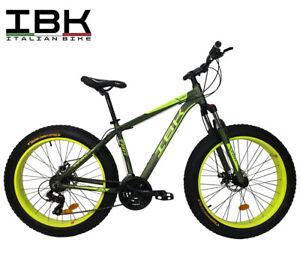 Bici-FAT-BIKE-26-034-Bicicletta-Adulto-Alluminio-Forcella-Ammortizzata-SHIMANO-21V