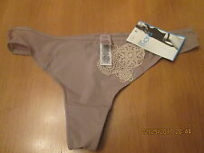 M & S coffee & cream thong size 8