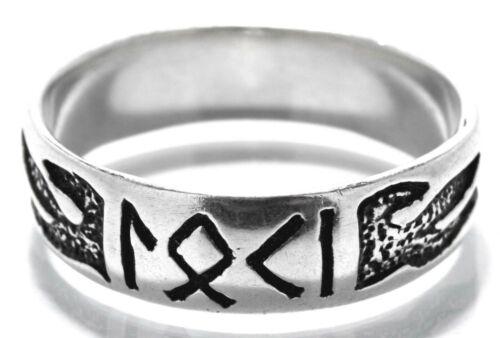 talla 52-74 llamas dios de fuego runas Dedo anular anillo de Loki 925 Sterling plata