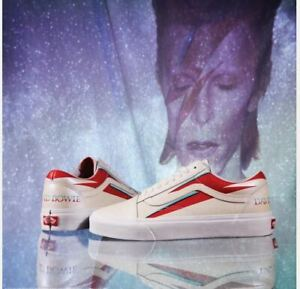 Vans-David-Bowie-X-Old-Skool-Aladin-Sane-2019-White-Fashion-Sneakers-Shoes-Men-039-s