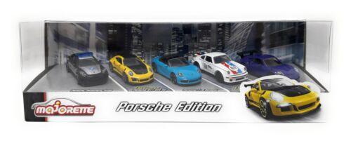 Giftpack Panamera 911 718 934 Model Car metal Majorette Porsche Edition 5 pcs