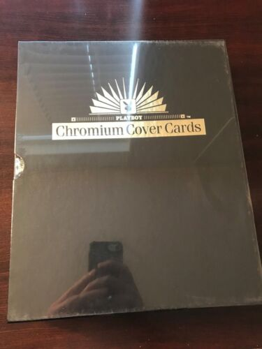 1995 Playboy Chromium Cover CARDS Edition 1 SEALED BINDER REFRACTOR SET //2500